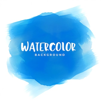 Blue watercolor paint texture background