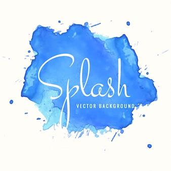Blue watercolor splash design background