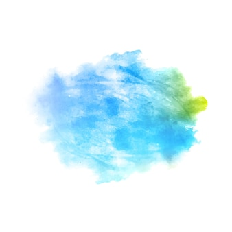 青い水彩スプラッシュ汚れの背景