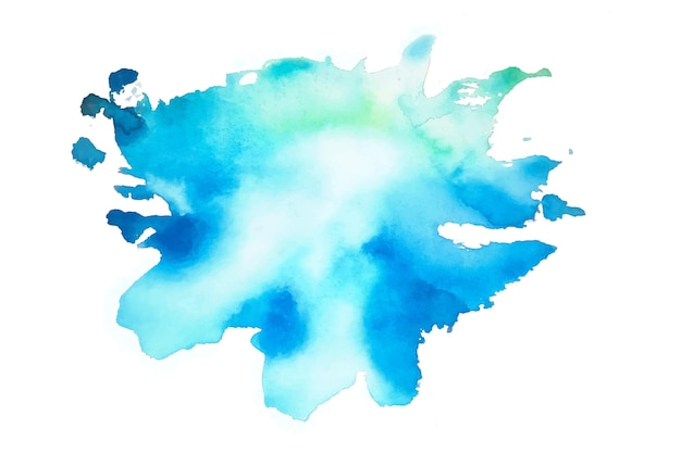 Blue watercolor splash stain texture background