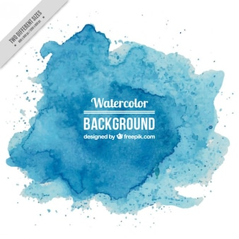 Blue watercolor splashes background