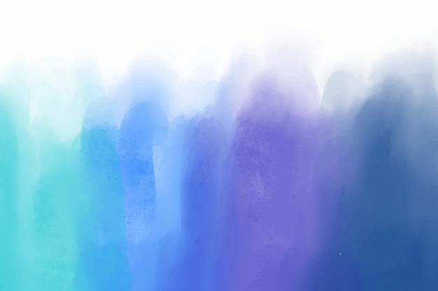 Blue watercolor stains background