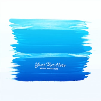 Blue watercolor stroke vector