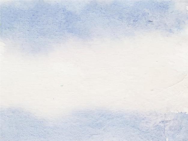Синий акварельный фон текстуры, ручная краска.