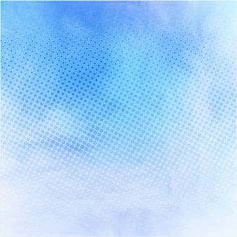 Blue watercolor texture with dots