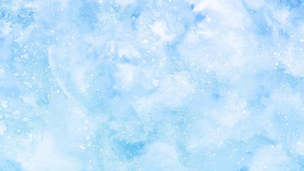 テクスチャーと青い水彩画