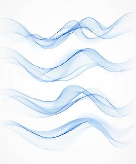 Blue wave background for your design.