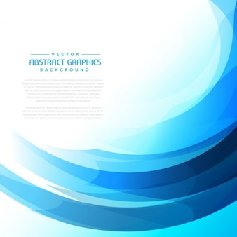 Blue wave bright abstract background