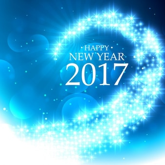 Blue wave bright new year background