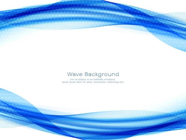 Blue wave decorative modern background