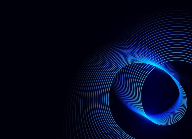 Blue wave light on dark blue background