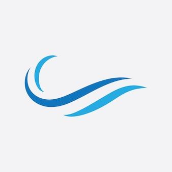 Blue wave logo vector.  water wave illustration template design