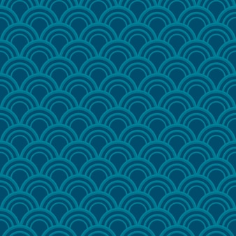 Blue wave seamless pattern.