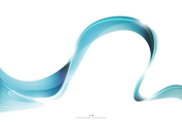 Синяя волна полосы полосы абстрактного фона
