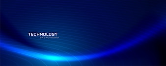 Blue wave technology banner design