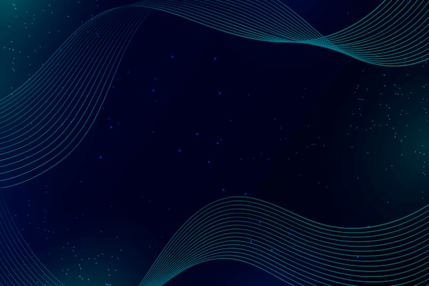Blue waves and dots abstract background