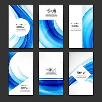 Raccolta brochure ondulata blu
