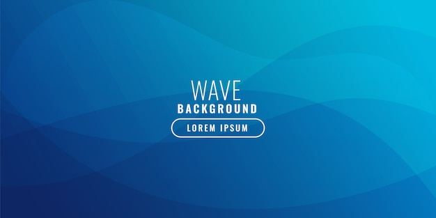 Blue wavy business background illustration