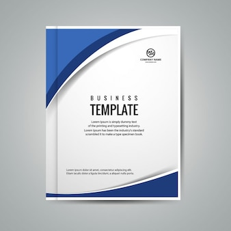Blue wavy business booklet