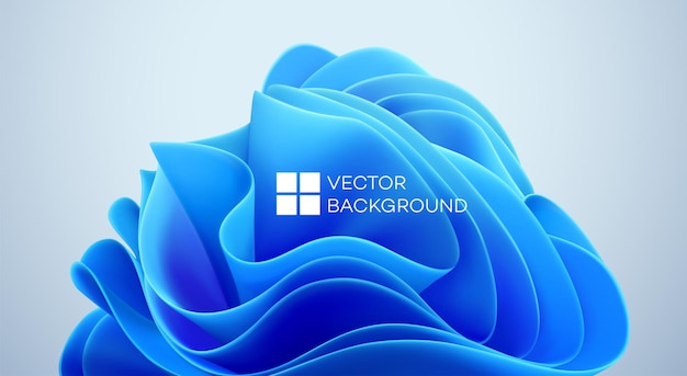 Синие волнистые формы на черном фоне. 3d модный современный фон. синие волны абстрактной формы. векторная иллюстрация eps10