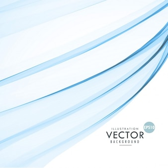 Blue wavy shapes on a white background