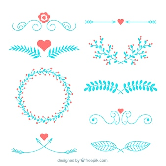 Blue wedding ornament collection
