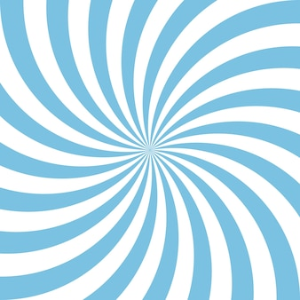 Blue and white abstract spiral background.