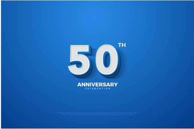 Blue and white background of the anniversary