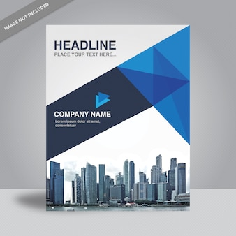 Blue and white business flyer