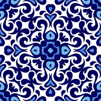 Blue and white ceramic pattern