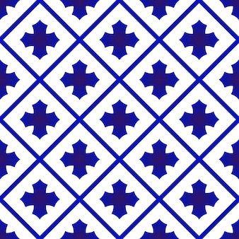 Blue and white ceramic thai pattern