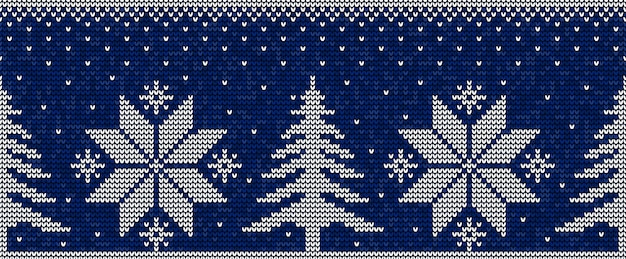 Blue and white christmas seamless pattern background