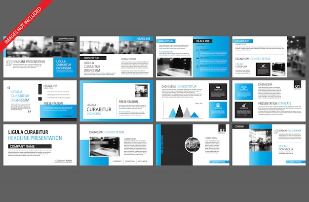 Blue and white element for slide infographic on background.