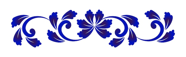 Blue and white flower element