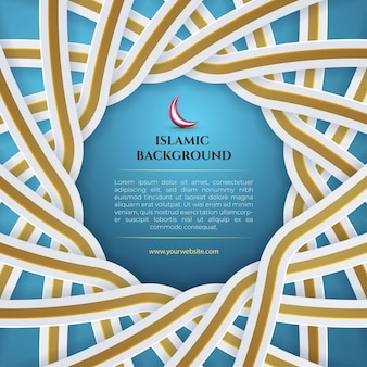 Blue white gold islamic background with latern  for eid mubarak and ramadan banner social media template post