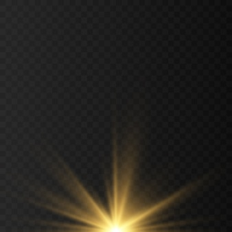 青、白、金、オレンジ色の輝きのシンボルベクトル。元のベクトル星の輝きアイコンのセット。鮮やかな花火、装飾のきらめき、光沢のあるフラッシュ。