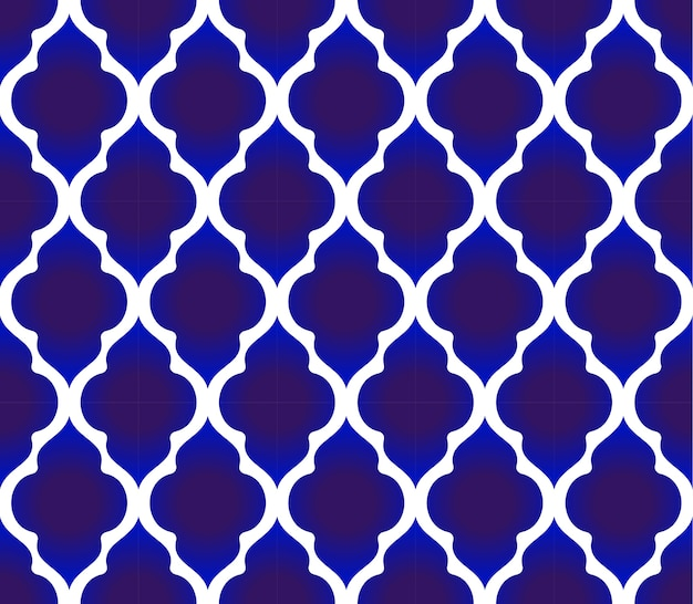 Blue and white islamic pattern