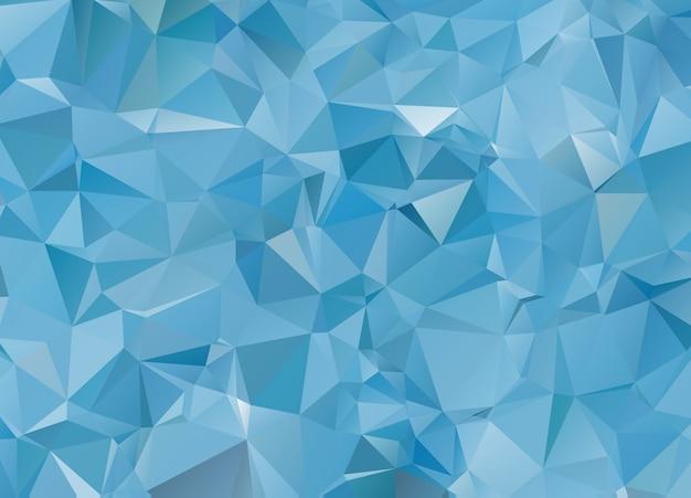 Blue white light polygonal mosaic background, vector illustration