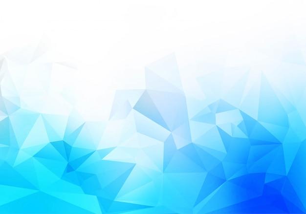 파란색 흰색 낮은 폴리 삼각형 모양 배경
