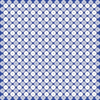 Blue and white monochrome vector quilt pattern. repeat design for prints, textile, decor, fabric, clothing, packaging.