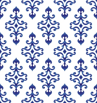 Blue and white pattern japan and chinese style, porcelain background