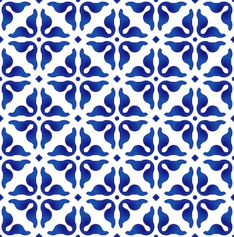 Blue and white pattern,