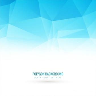 Blu poligono backgroundd