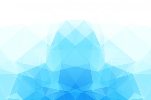 Blue white polygonal mosaic background