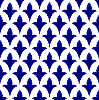 Blue and white pottery seamless pattern