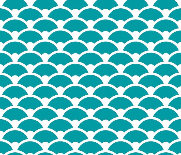 Blue and white seamless wave pattern