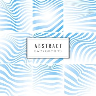 Vettori di sfondo astratto a strisce blu e bianco
