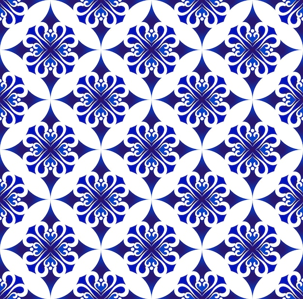 Blue and white thai pattern