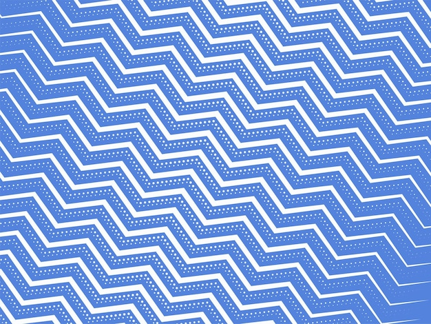 Blue and white zig zag lines pattern background.