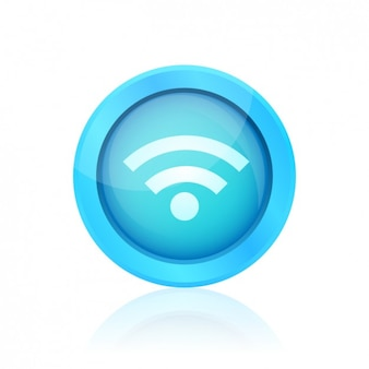 Blue wifi button